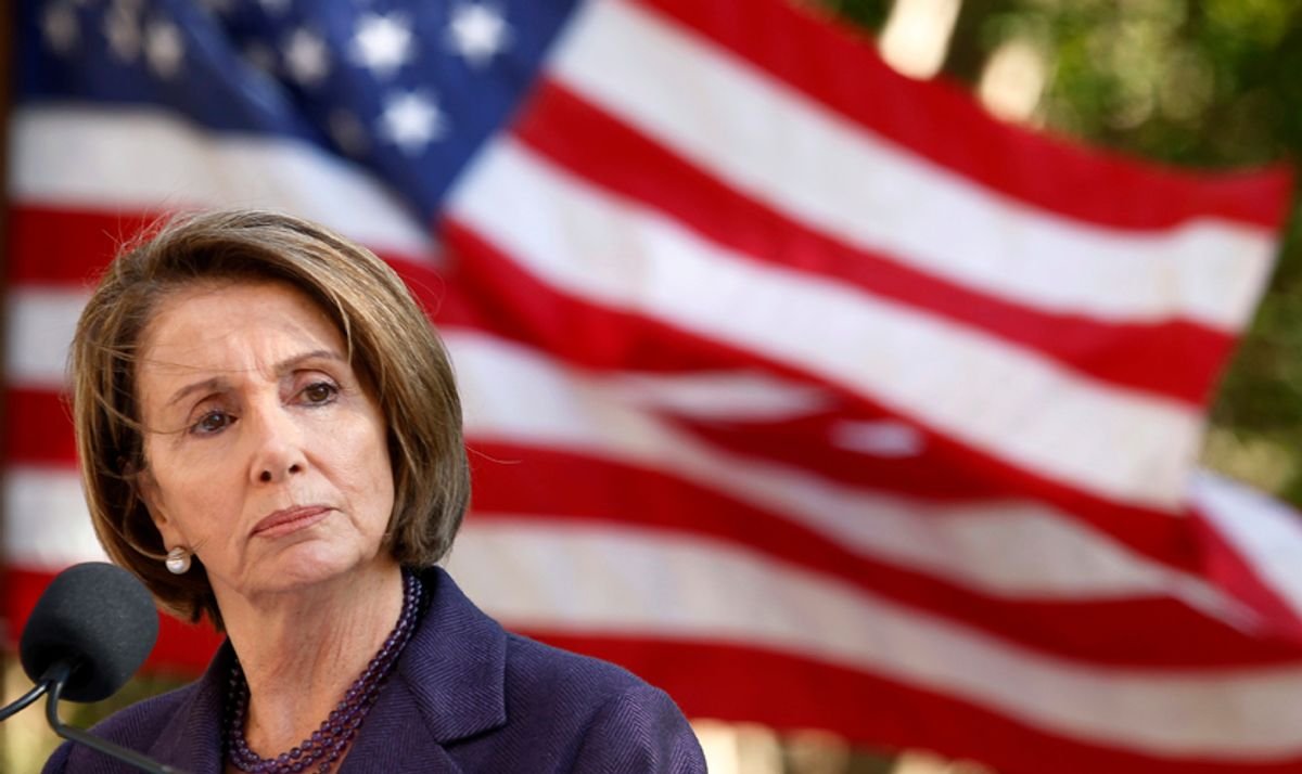 Outgoing Speaker of the House Nancy Pelosi makes remarks at the groundbreaking ceremony for the American Veterans Disabled For Life Memorial in Washington November 10, 2010. REUTERS/Kevin Lamarque (UNITED STATES - Tags: POLITICS HEADSHOT IMAGES OF THE DAY) (© Kevin Lamarque / Reuters)