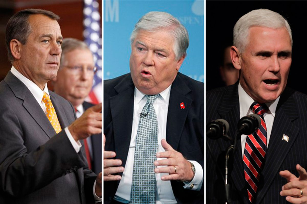John Boehner, Haley Barbour and Mike Pence
