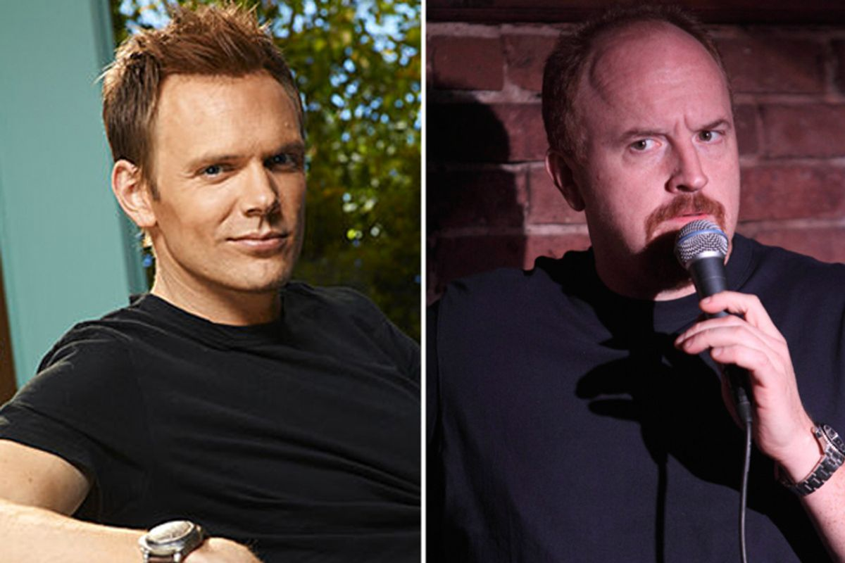 Joel McHale, left, and Louis CK -- two charismatic entertainers who did not make Salon's Men on Top 2010.