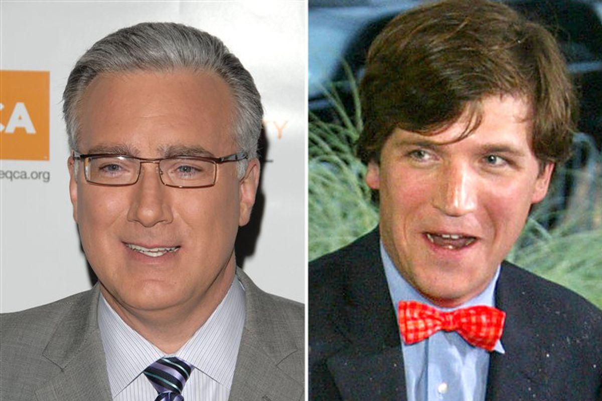 Keith Olbermann and Tucker Carlson
