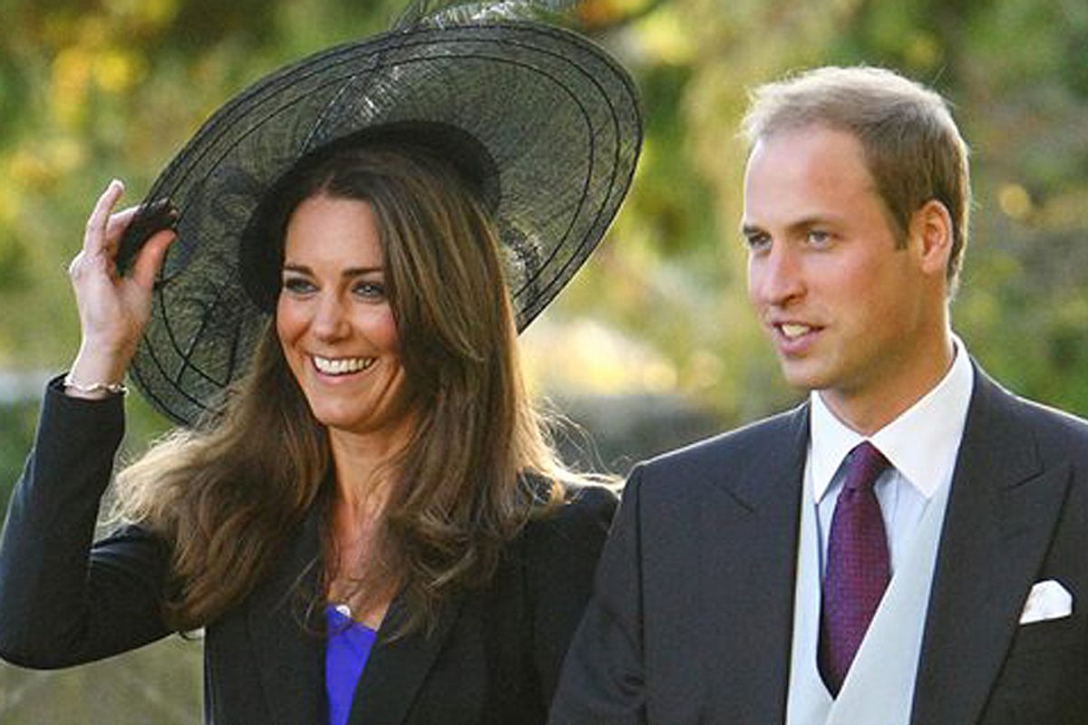Prince William and Kate Middleton leave the wedding of their friends Harry Mead and Rosie Bradford in October.