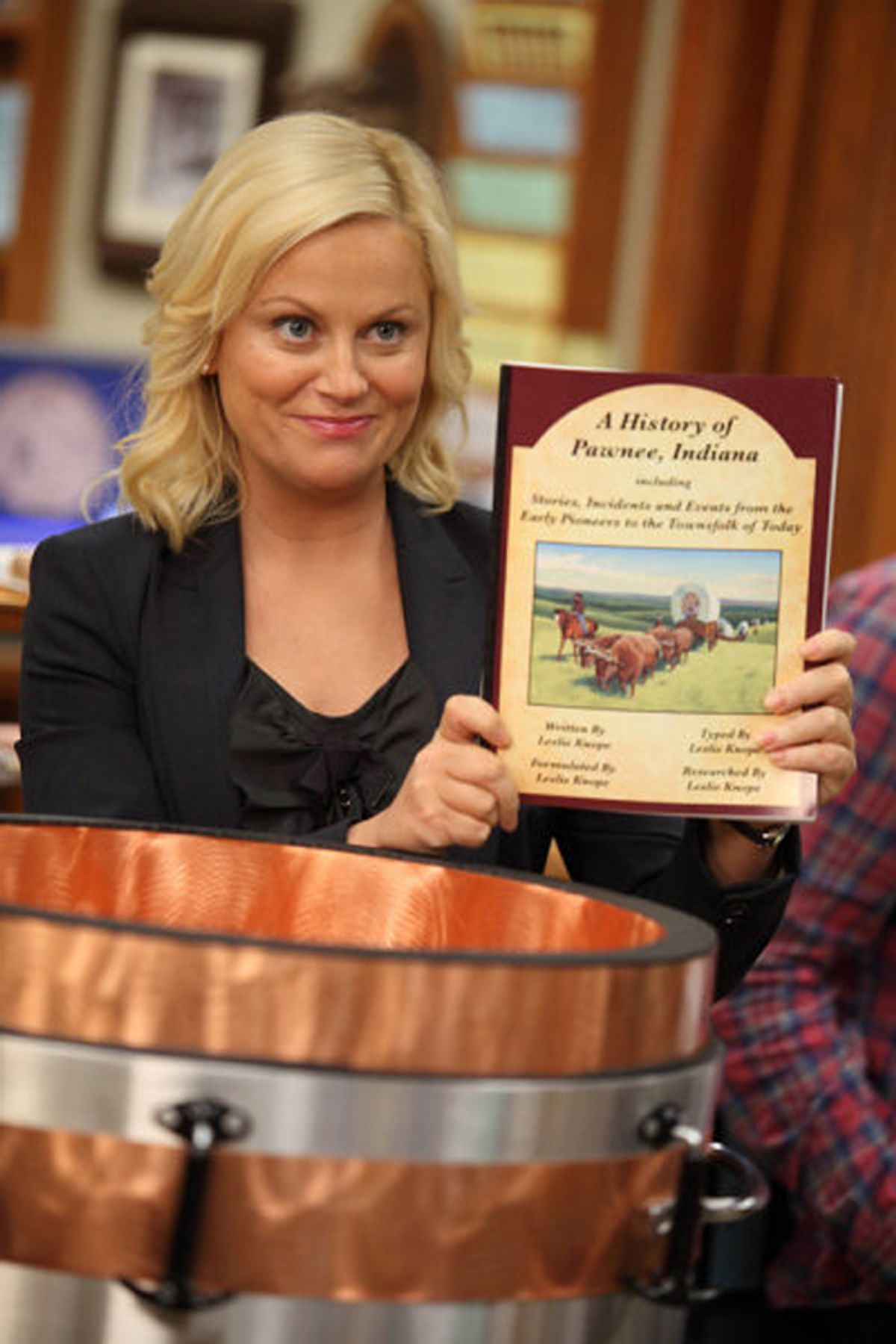 """PARKS AND RECREATION -- """"Time Capsule"""" Episode 306 -- Pictured: Amy Poehler as Leslie Knope -- Photo by: Justin Lubin/NBC     (Justin Lubin)"""