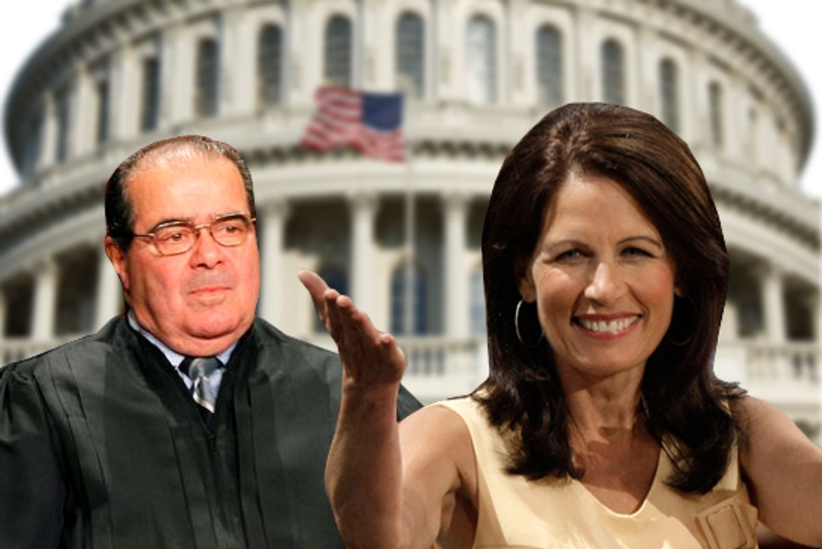 Justice Antonin Scalia and Rep. Michele Bachmann