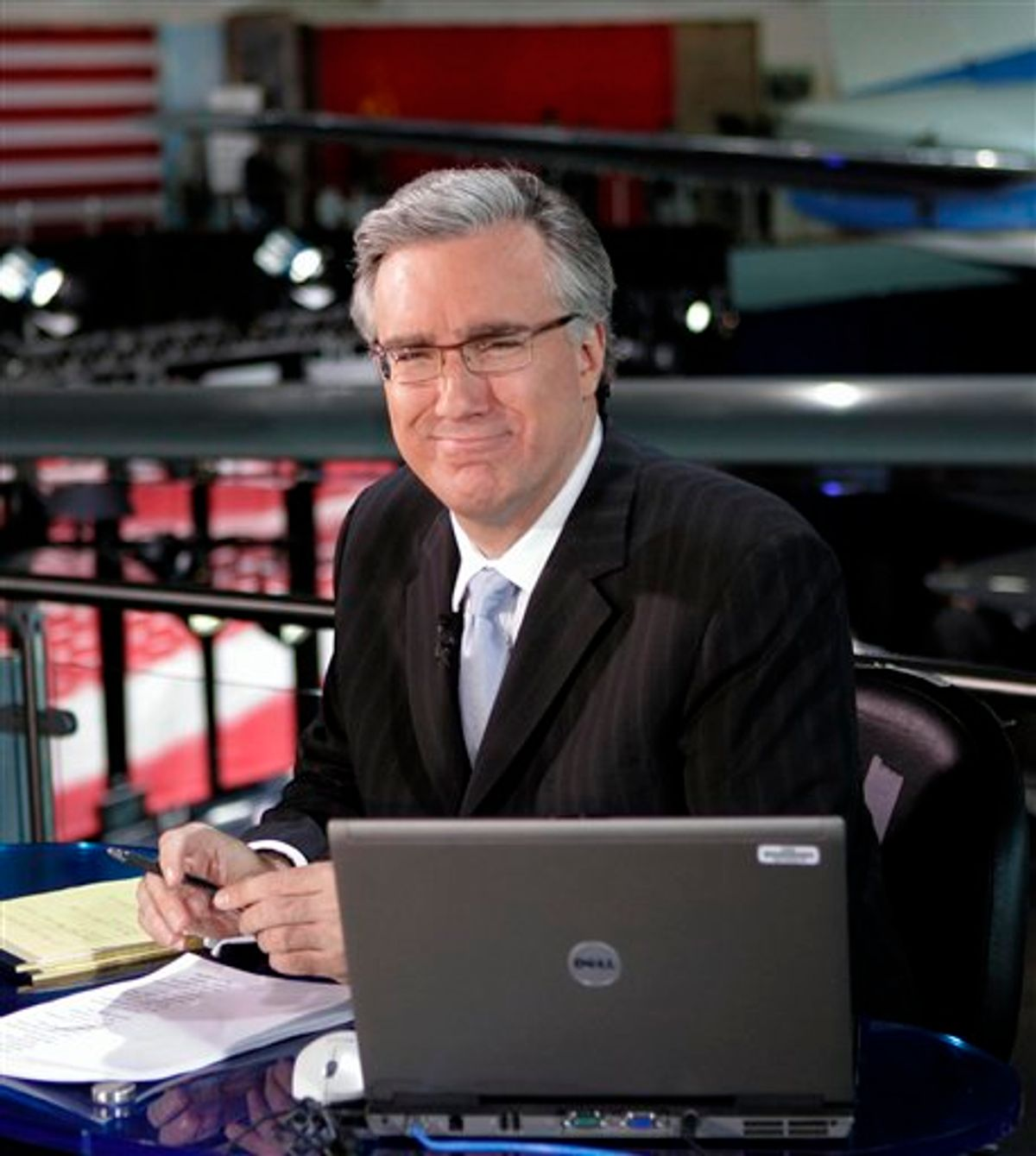 """FILE - In this May 3, 2007 file photo, Keith Olbermann of MSNBC poses at the Ronald Reagan Library in Simi Valley, Calif. Keith Olbermann is leaving MSNBC and has announced that Friday's """"Countdown"""" show will be his last.  MSNBC issued a statement Friday, Jan. 21, 2011, that it had ended its contract with the controversial host, with no further explanation. (AP Photo/Mark J. Terrill, File) (AP)"""