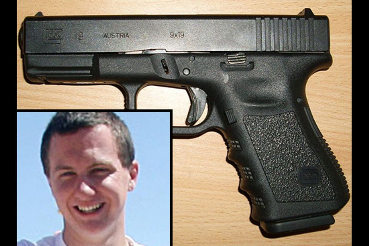 A Glock 19 semiautomatic handgun. Inset: Jared Lee Loughner