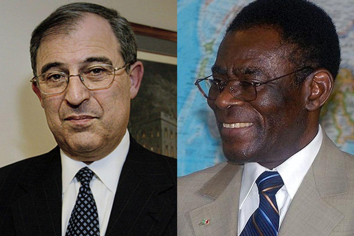 Lobbyist Lanny Davis and Teodoro Obiang Nguema Mbasogo, the ruler of Equatorial Guinea