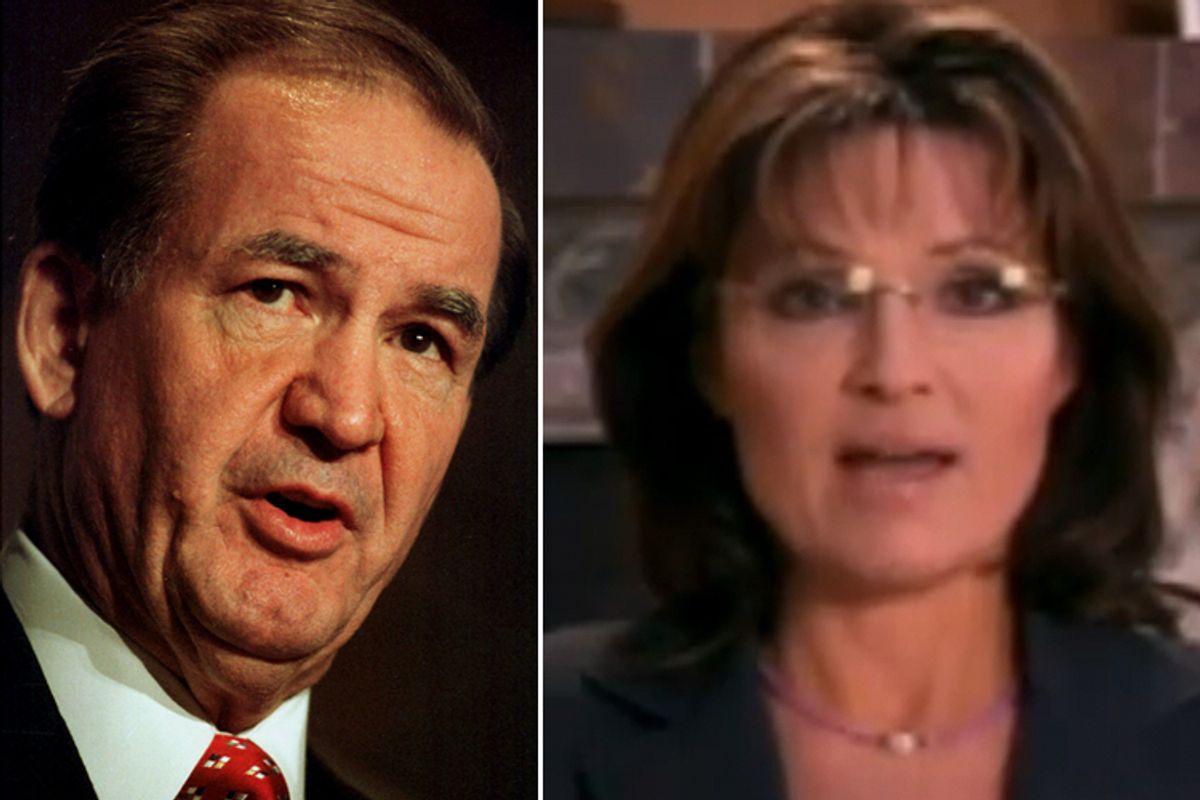 Pat Buchanan and Sarah Palin