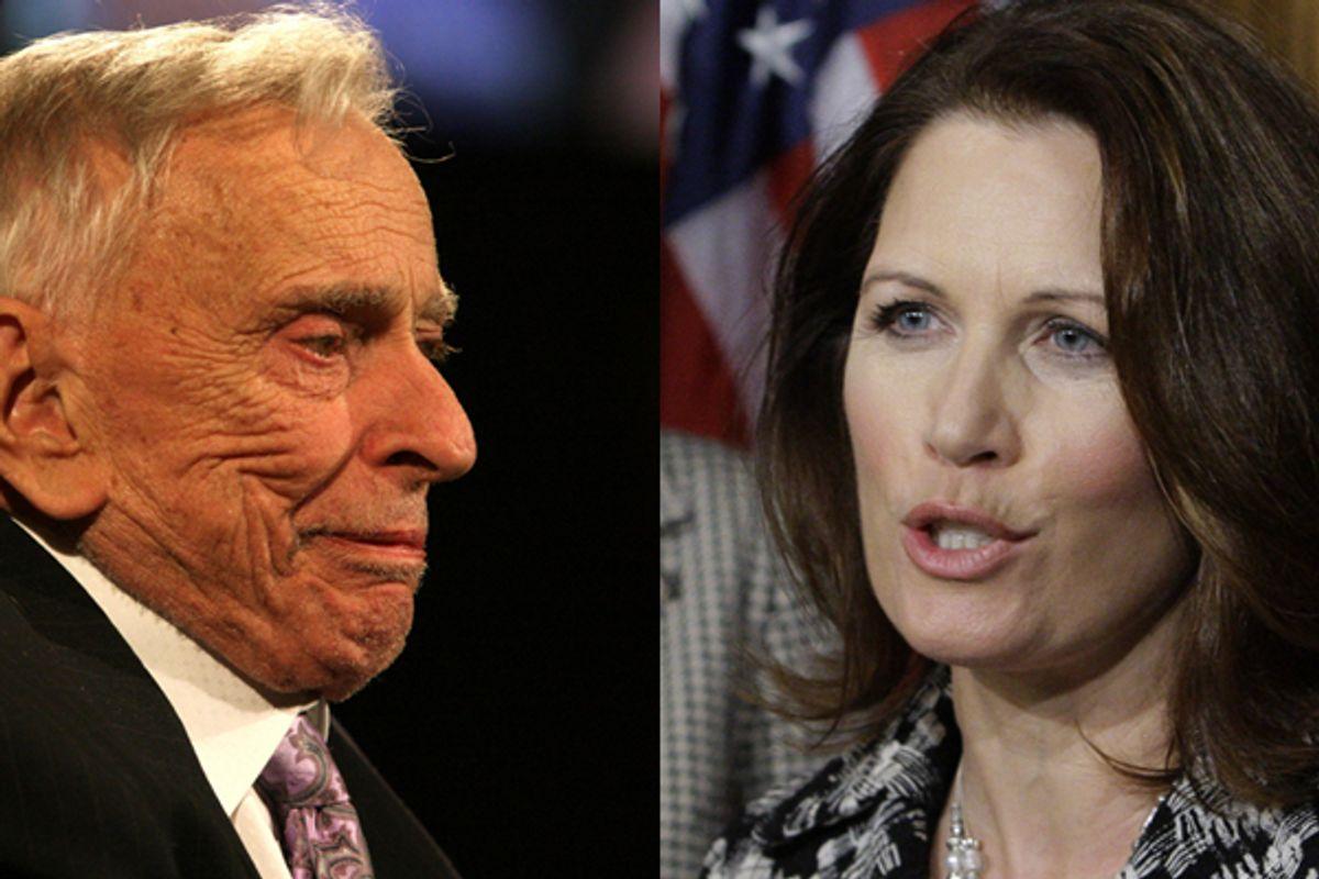 Gore Vidal and Rep. Michele Bachmann, R-Minn