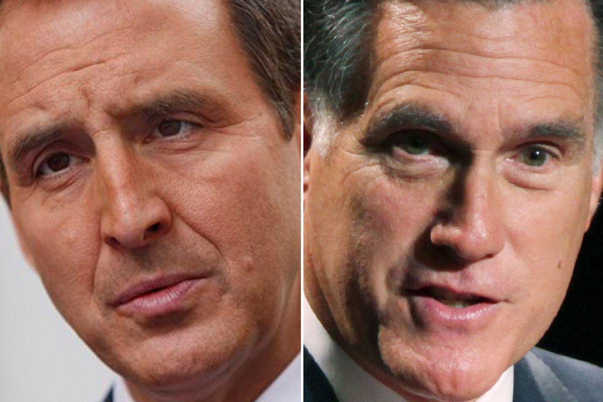 Tim Pawlenty and Mitt Romney