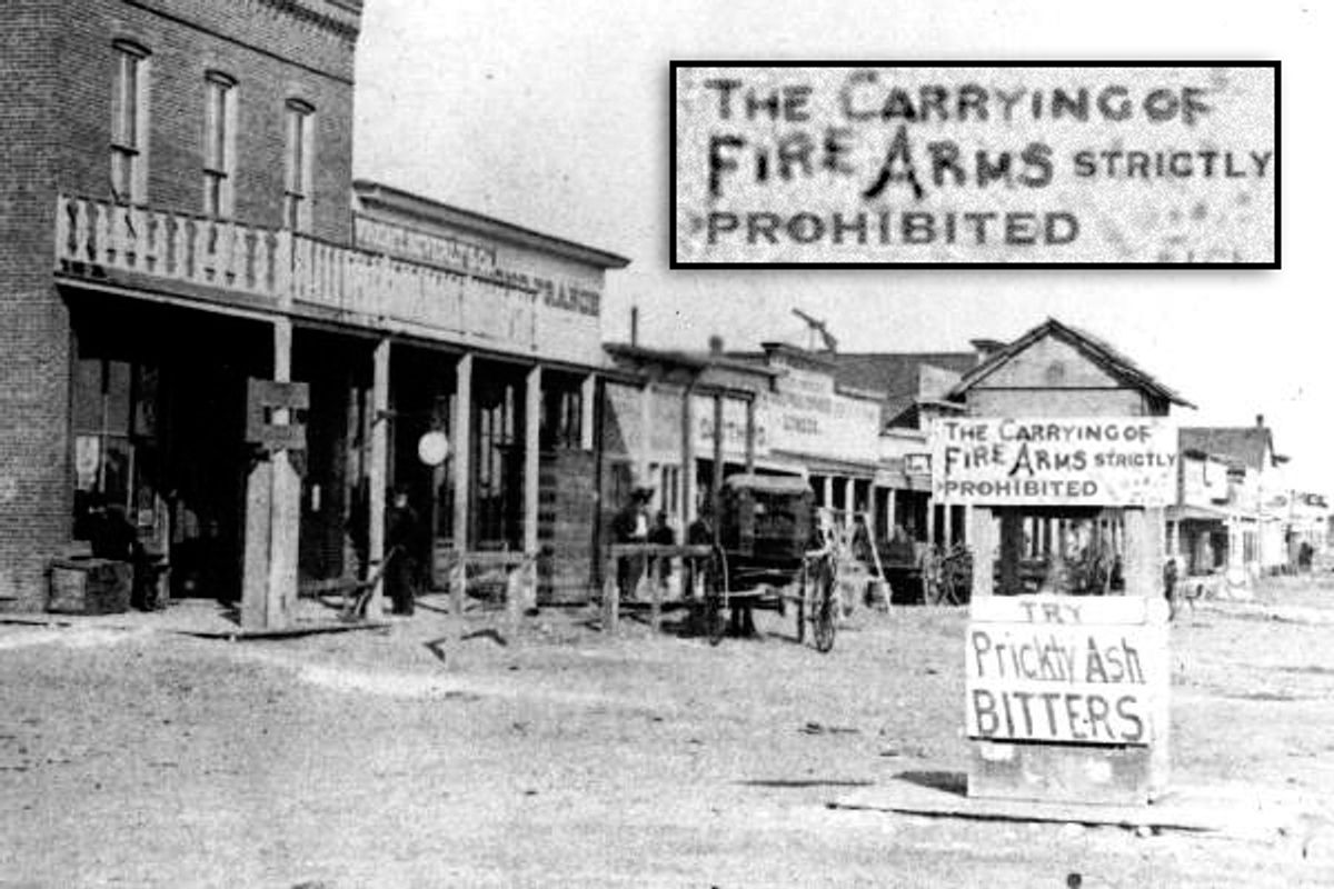 Looking east on Dodge City's Front Street in 1878