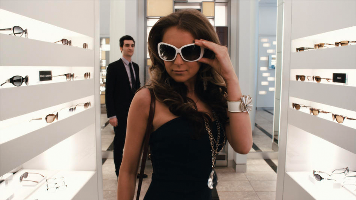 """A still from """"From Prada to Nada"""""""