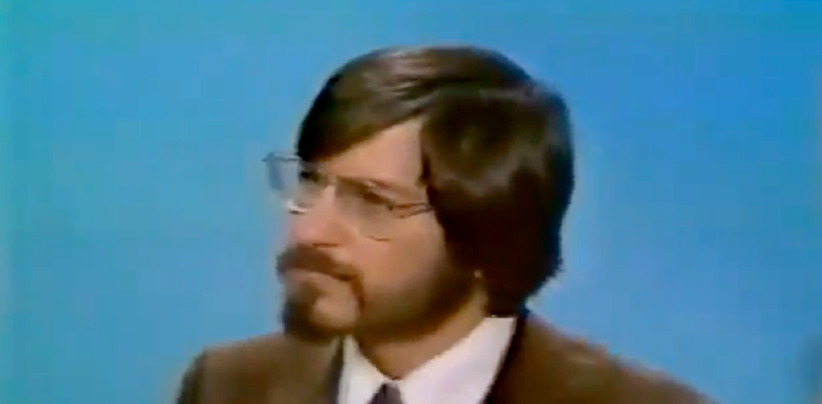 Steve Jobs, 23, at first ever television appearance