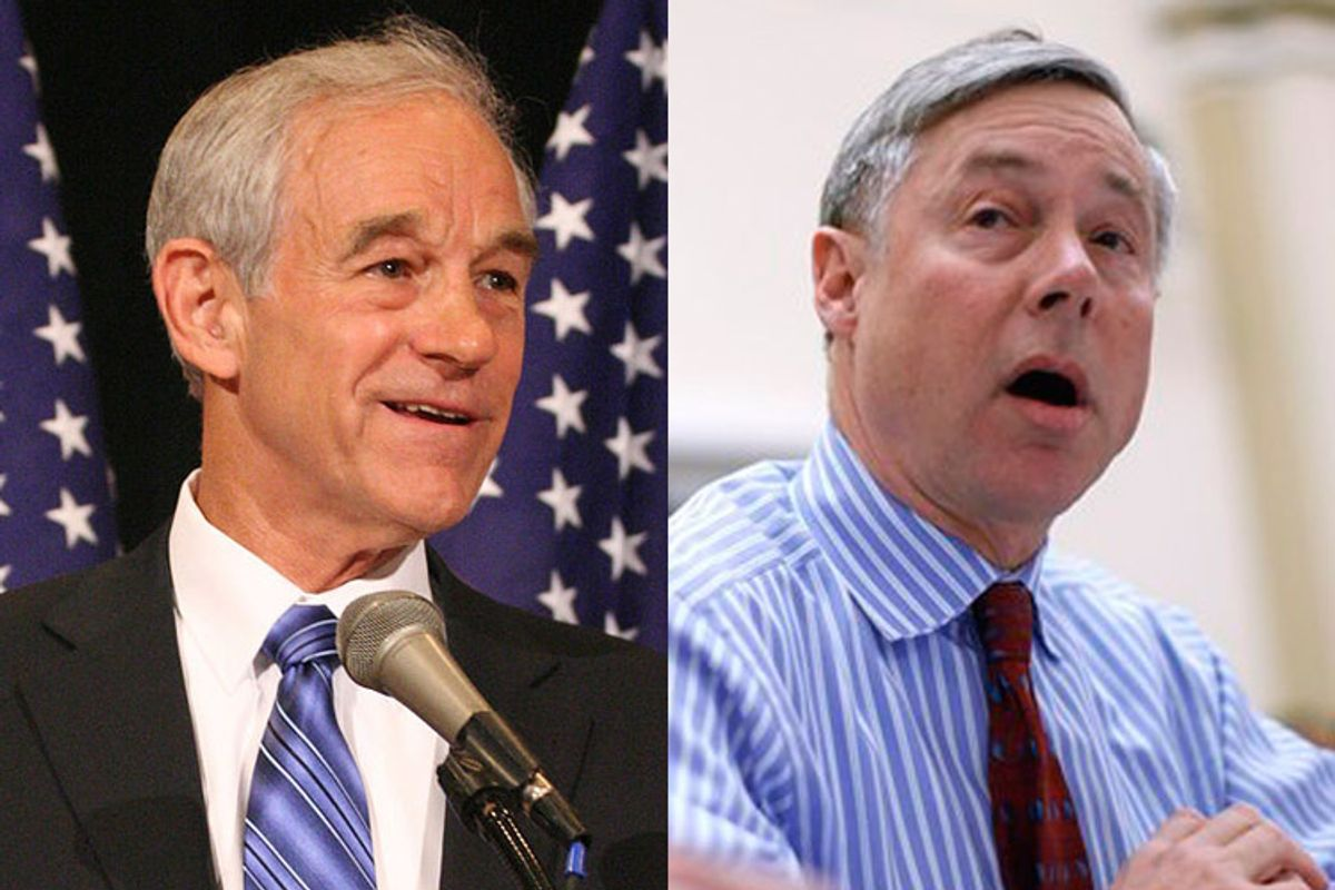 Ron Paul, Chair of House Monetary Policy committee and Fred Upton, Chair of House Energy and Commerce committee