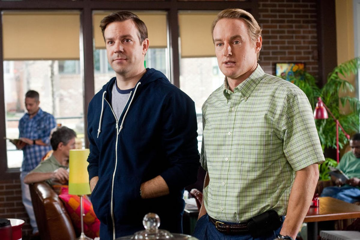 """(L-r) JASON SUDEIKIS as Fred and OWEN WILSON as Rick in New Line Cinema's comedy """"HALL PASS,"""" a Warner Bros. Pictures release. PHOTOGRAPHS TO BE USED SOLELY FOR ADVERTISING, PROMOTION, PUBLICITY OR REVIEWS OF THIS SPECIFIC MOTION PICTURE AND TO REMAIN THE PROPERTY OF THE STUDIO. NOT FOR SALE OR REDISTRIBUTION (Peter Iovino)"""