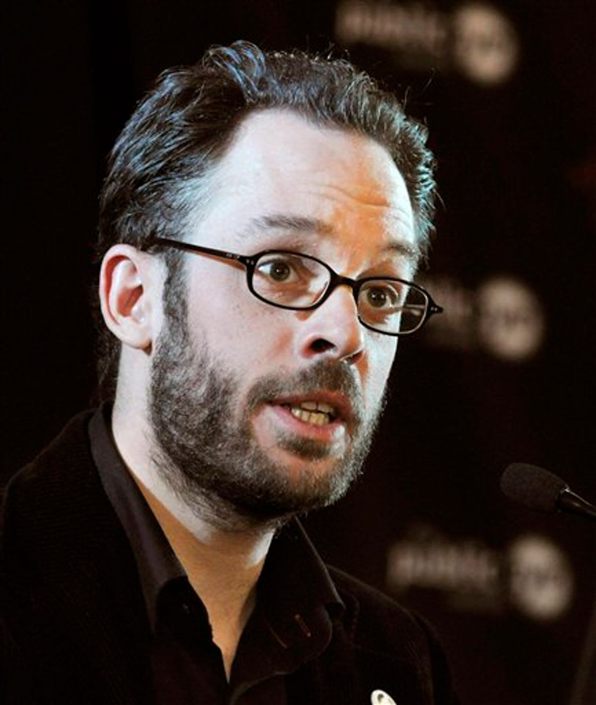 """FILE- In this file photo dated Friday Jan. 28, 2011, provided by Greenpeace, showing Daniel Domscheit-Berg during a news conference in Davos, Switzerland, on Friday, Jan. 28, 2011.  Domscheit-Berg is about to publish a book it is announced Monday Feb. 7, 2011, giving his insider account about secret spilling website WikiLeaks, entitled """"Inside WikiLeaks: My Time with Julian Assange at the World's Most Dangerous Website"""".  Daniel Domscheit-Berg is the former spokesman for WikiLeaks, but left the site dramatically in September 2010 because of a differences of opinion with founder Julian Assange. (AP Photo/Greenpeace, Markus Forte, file)  NO SALES, MANDATORY CREDIT, EDITORIAL USE ONLY (AP)"""