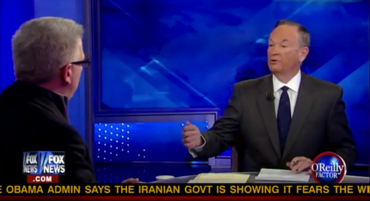Bill O'Reilly tries to reason with Glenn Beck on Friday night's show.