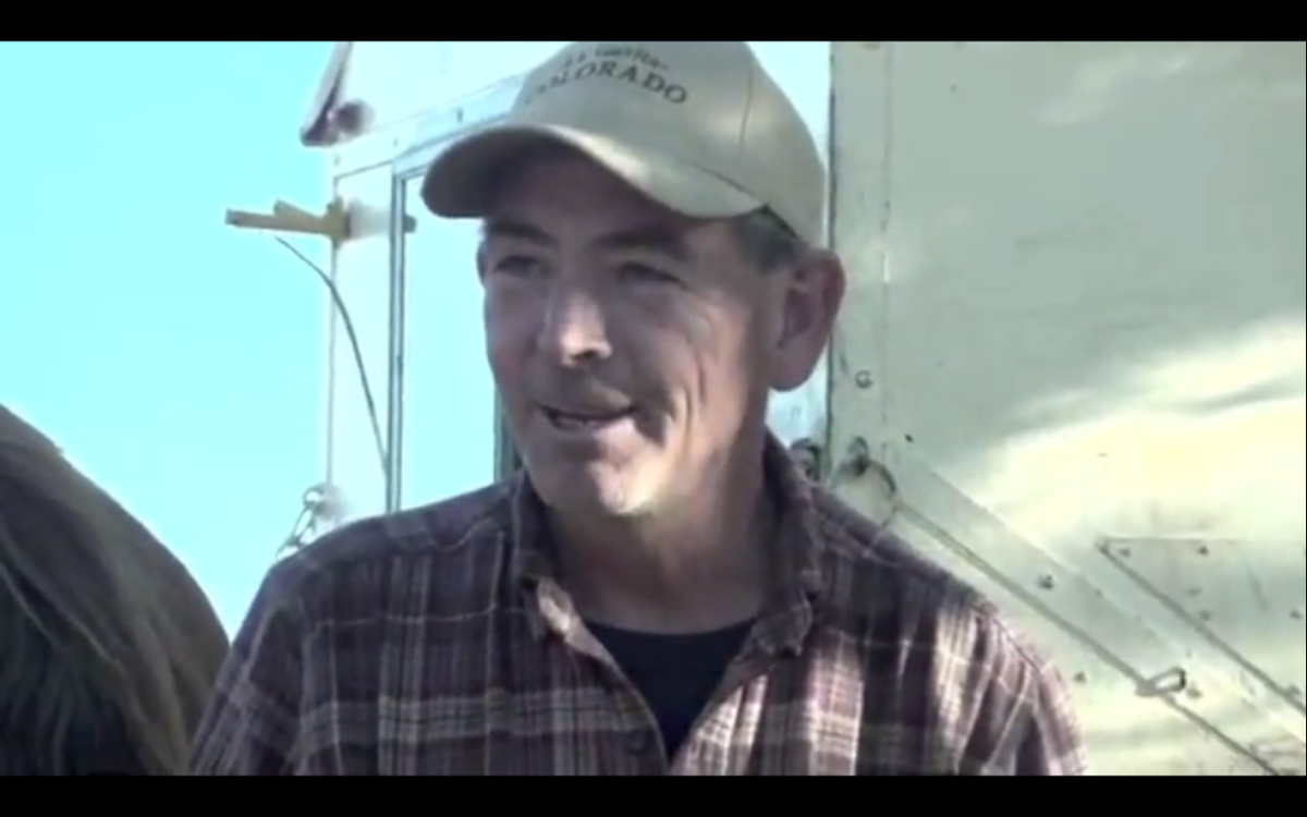 """Bob Skelding talks to Cary Ellis, who interviewed the wagon driver for her <a href=""""http://www.youtube.com/watch?v=4uam321s4H4"""">YouTube channel</a>."""