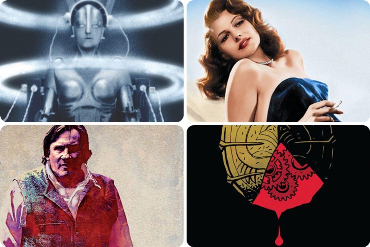"Clockwise, top left: ""Metropolis,""""The Films of Rita Hayworth,"" ""Cronos,"" ""Inspector Bellamy"""