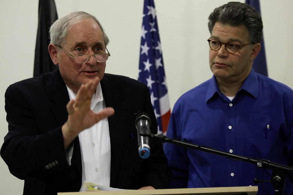 U.S. Sen. Carl Levin, D- Mich. the chairman of the U.S. Senate Armed Services Committee talks during a press conference accompanied by Sen. Al Franken, D-Minn., in Kabul, Afghanistan, Wednesday, Jan. 13, 2010.