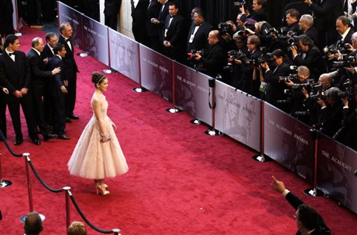 Actress Hailee Steinfeld arrives before the 83rd Academy Awards on Sunday, Feb. 27, 2011, in the Hollywood section of Los Angeles. (AP Photo/Matt Sayles)  (AP)
