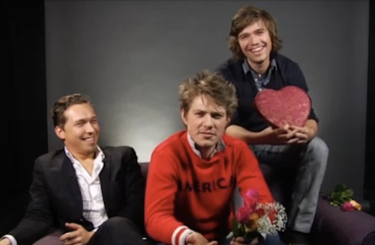 Hanson wishes you a Happy Valentine's Day on the Internet!