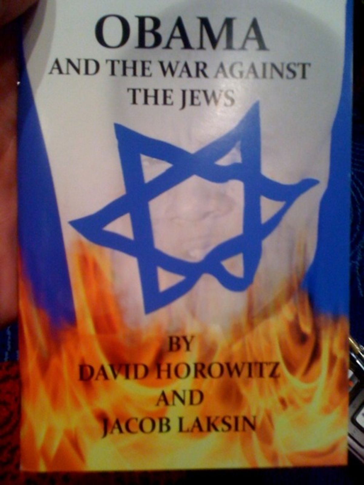 The cover of a book by David Horowitz being handed out at CPAC 2011.