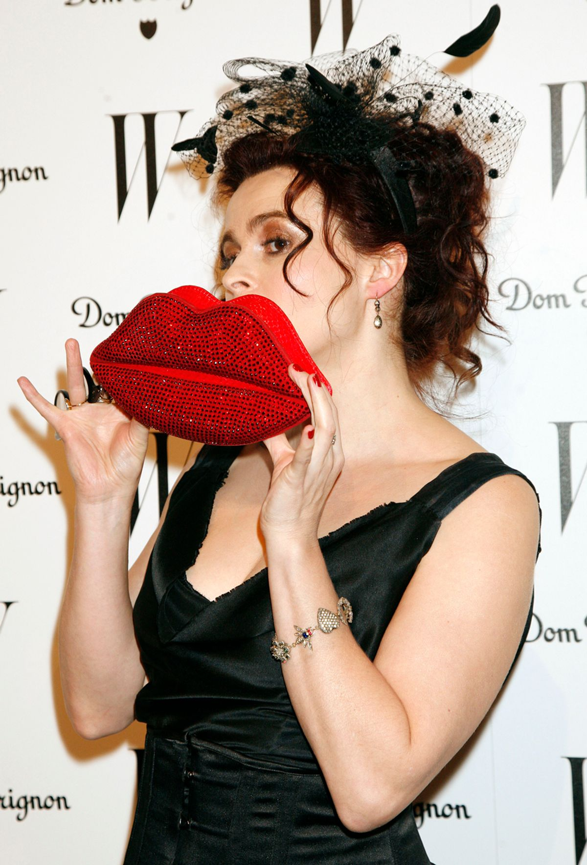 Actress Helena Bonham Carter arrives as W Magazine Celebrates The Best Performances Issue and The Golden Globes at Chateau Marmont in West Hollywood, Calif., Friday., Jan. 14, 2011. (AP Photo/Jason Redmond) (Jason Redmond)