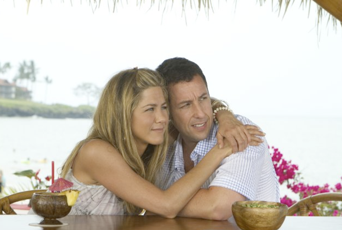 """Jennifer Aniston (left) and Adam Sandler in """"Just Go With It"""""""