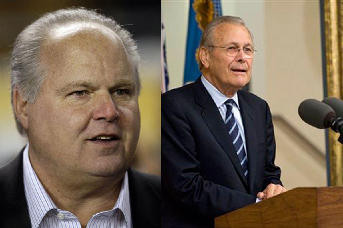 Rush Limbaugh; Donald Rumsfeld