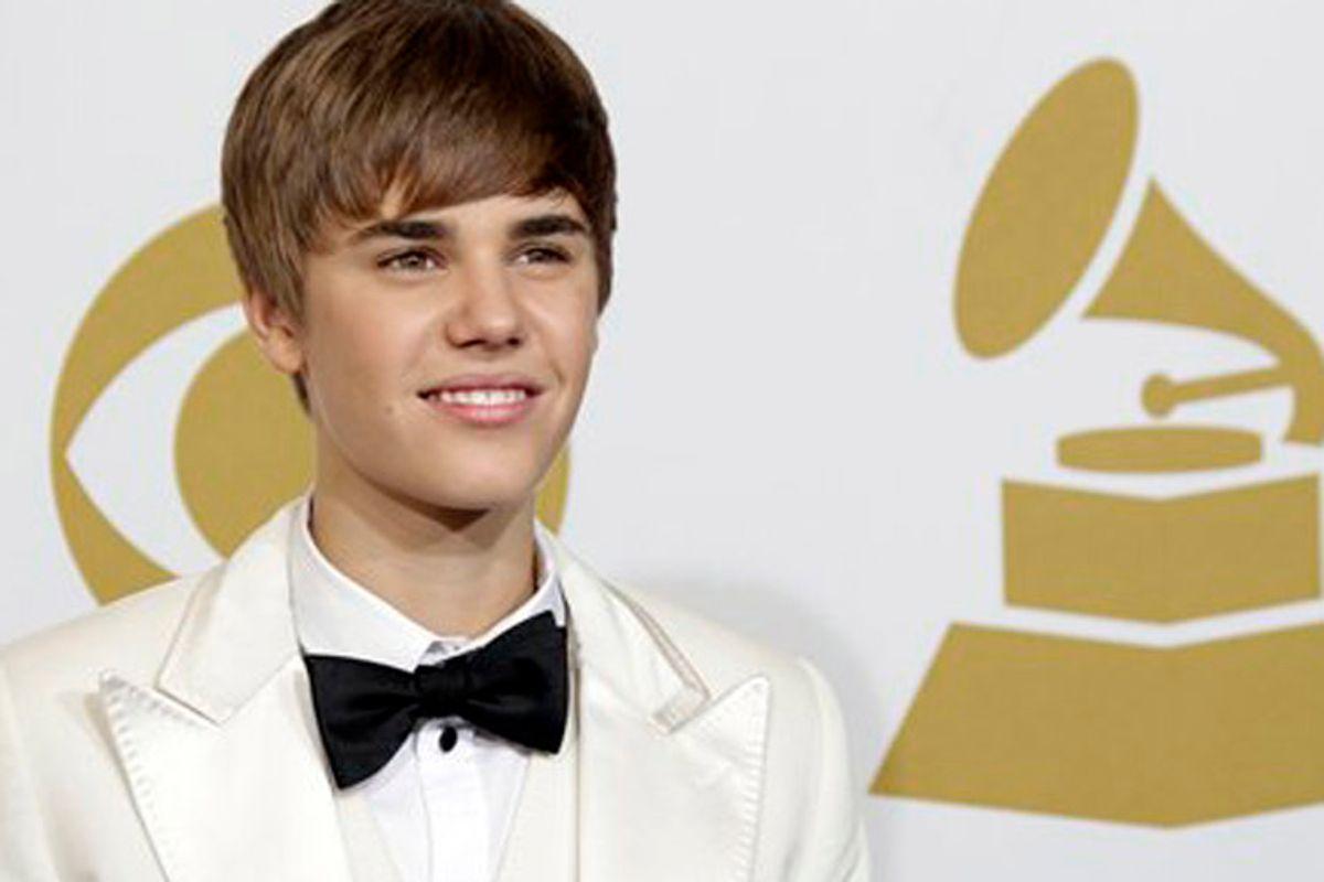 Justin Bieber poses backstage at the 53rd annual Grammy Awards on Sunday, Feb. 13, 2011, in Los Angeles. (AP Photo/Jae C. Hong) (Jae C. Hong)