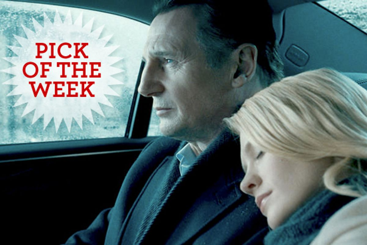 """Liam Neeson and January Jones in """"Unknown."""""""