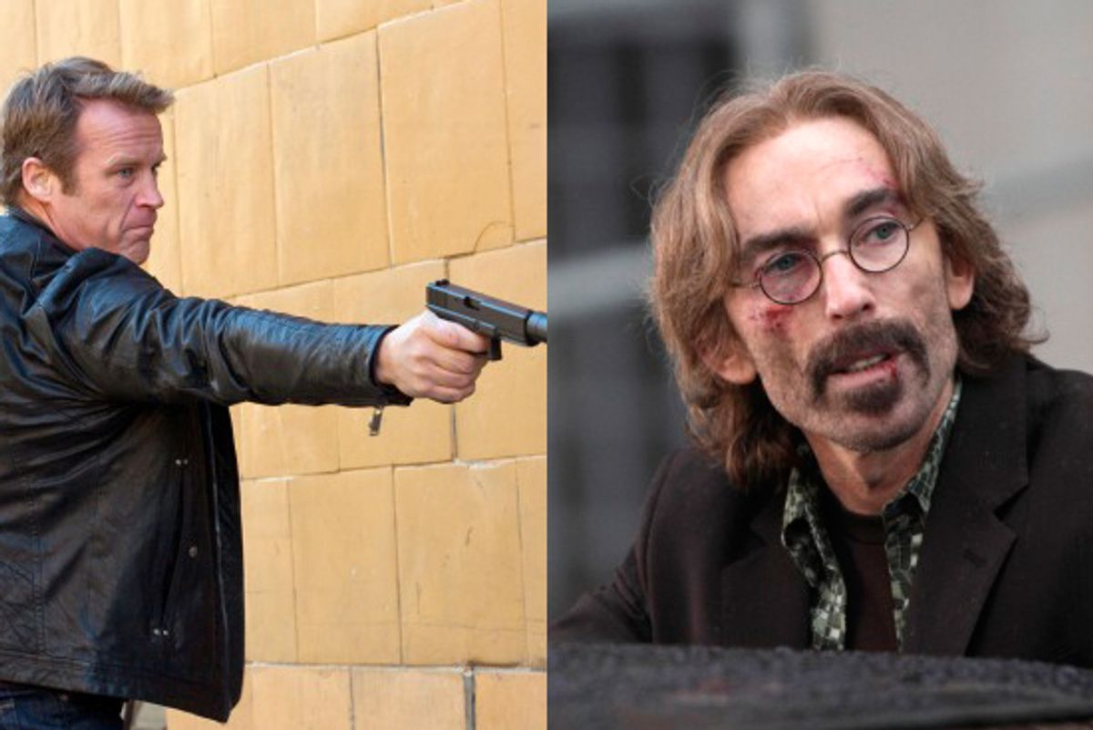 """Mark Valley, left, and Jackie Earle Haley in """"Human Target"""""""