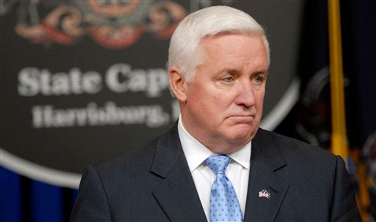 Republican Gov. Tom Corbett     (AP/Bradley C Bower)