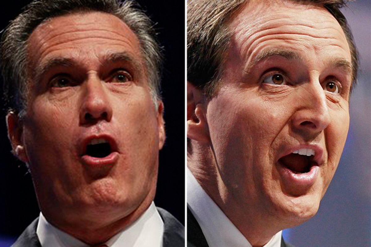 Mitt Romney and Tim Pawlenty