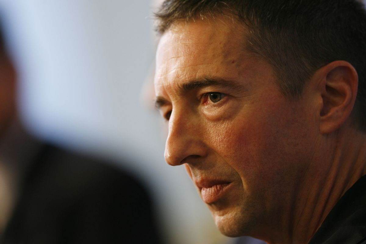 Political Commentator Ron Reagan, Jr.  speaks during CNN's Media Conference For The Election of the President 2008 at the Time Warner Center on October 14, 2008 in New York City. 16950_6376.JPG   (Joe Kohen)