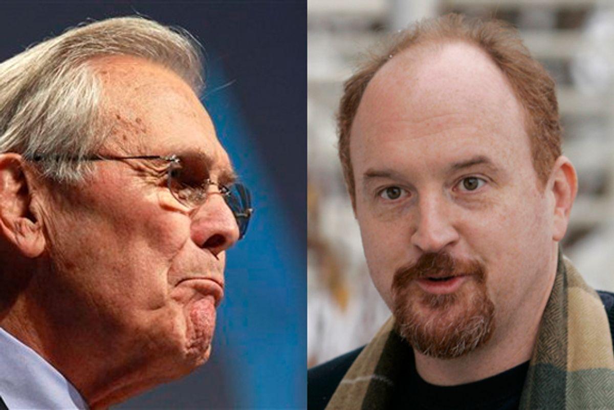 Donald Rumsfeld and Louis C.K.