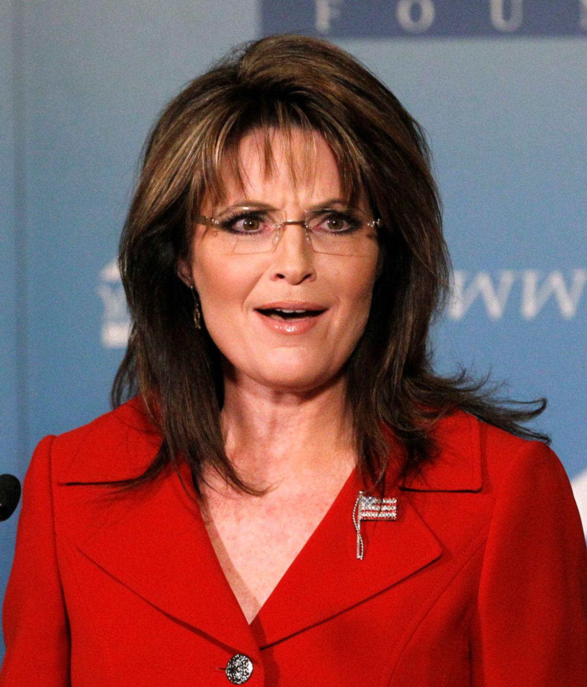 Former Alaska governor Sarah Palin delivers a keynote speech at the Reagan 100 opening banquet at Reagan Ranch Center in Santa Barbara, California February 4, 2011. The event celebrates the 100th anniversary of former U.S. President Ronald Reagan's birthday.    REUTERS/Mario Anzuoni (UNITED STATES - Tags: POLITICS PROFILE)  (© Mario Anzuoni / Reuters)