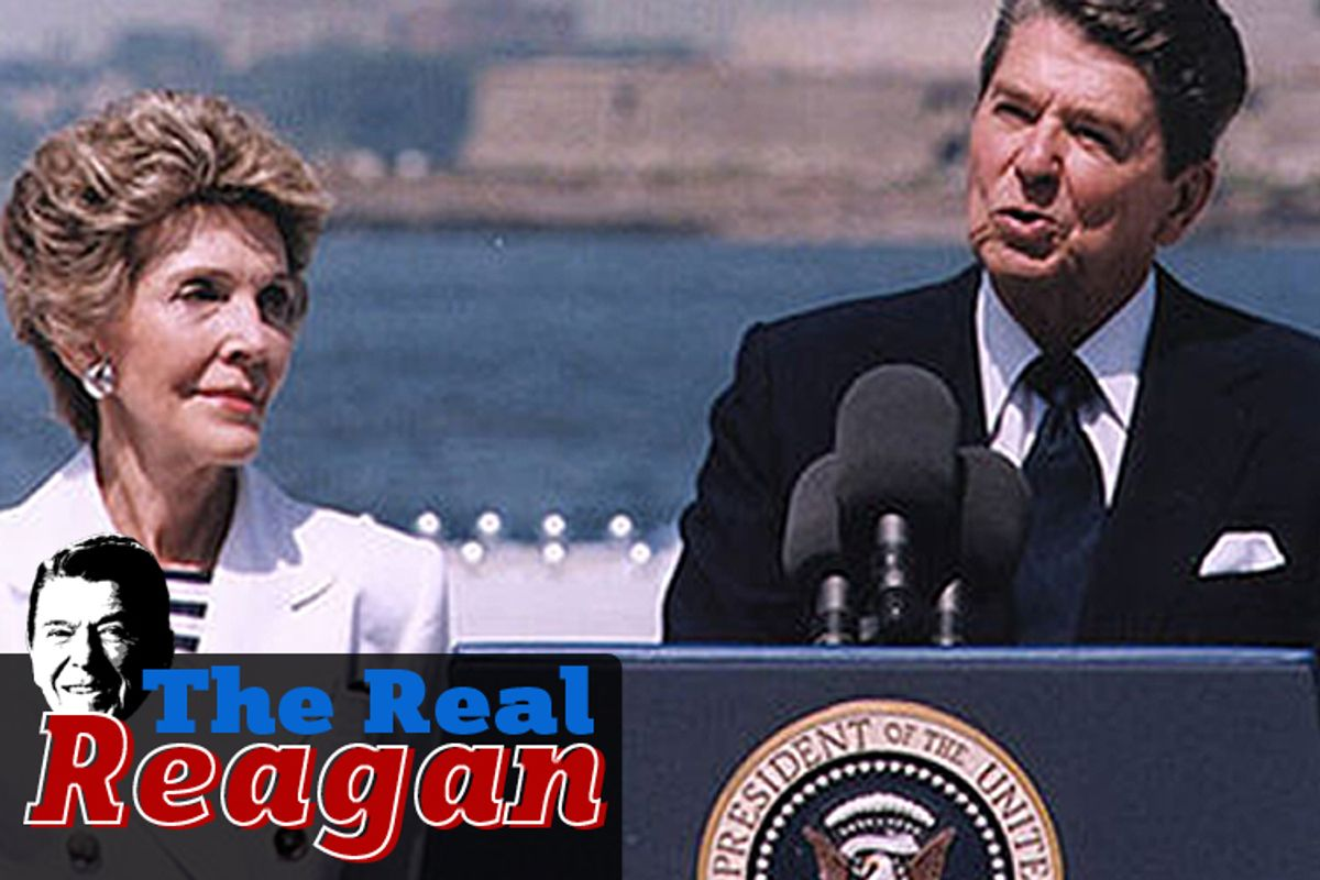 President Reagan at the Centennial of the Statue of Liberty on July 4, 1986