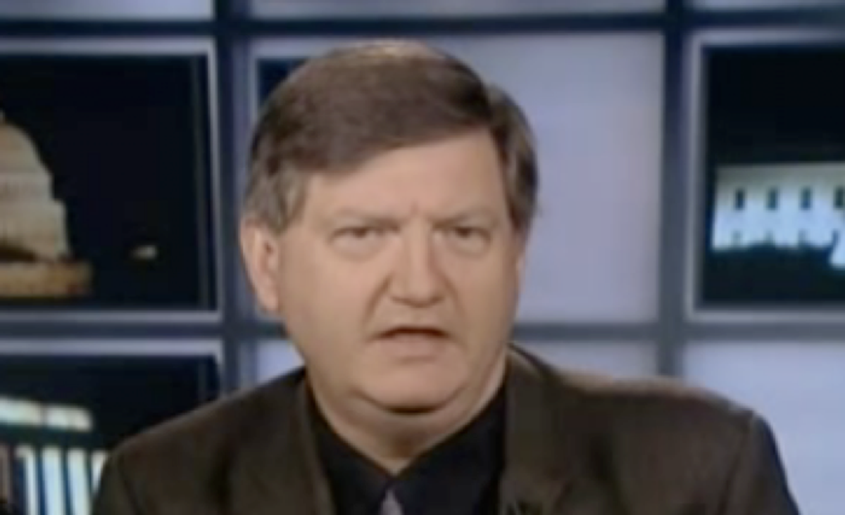 """James Risen appears on """"Countdown with Keith Olberman"""" on MSNBC in 2009."""