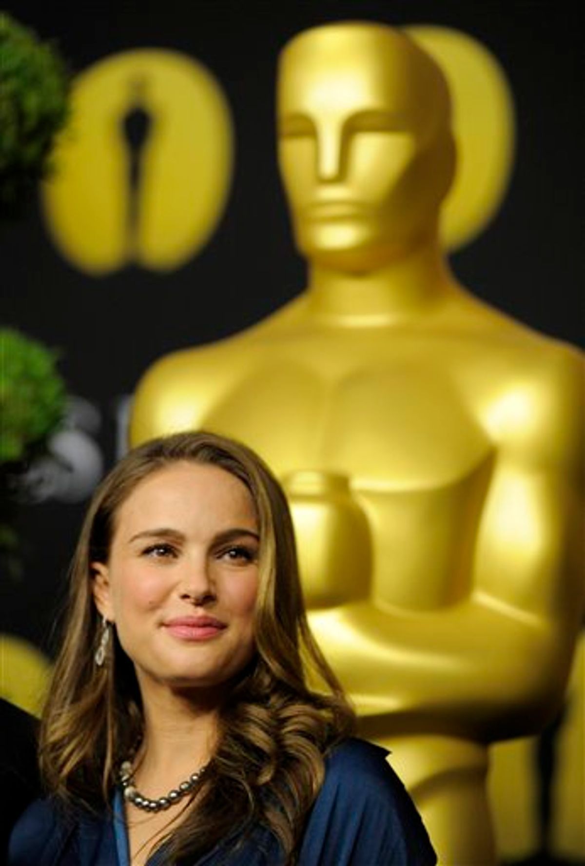 """Natalie Portman, an Oscar nominee for Actress in a Leading Role for """"Black Swan,"""" arrives at the 30th Academy Awards Nominees Luncheon in Beverly Hills, Calif., Monday, Feb. 7, 2011. (AP Photo/Chris Pizzello) (AP)"""