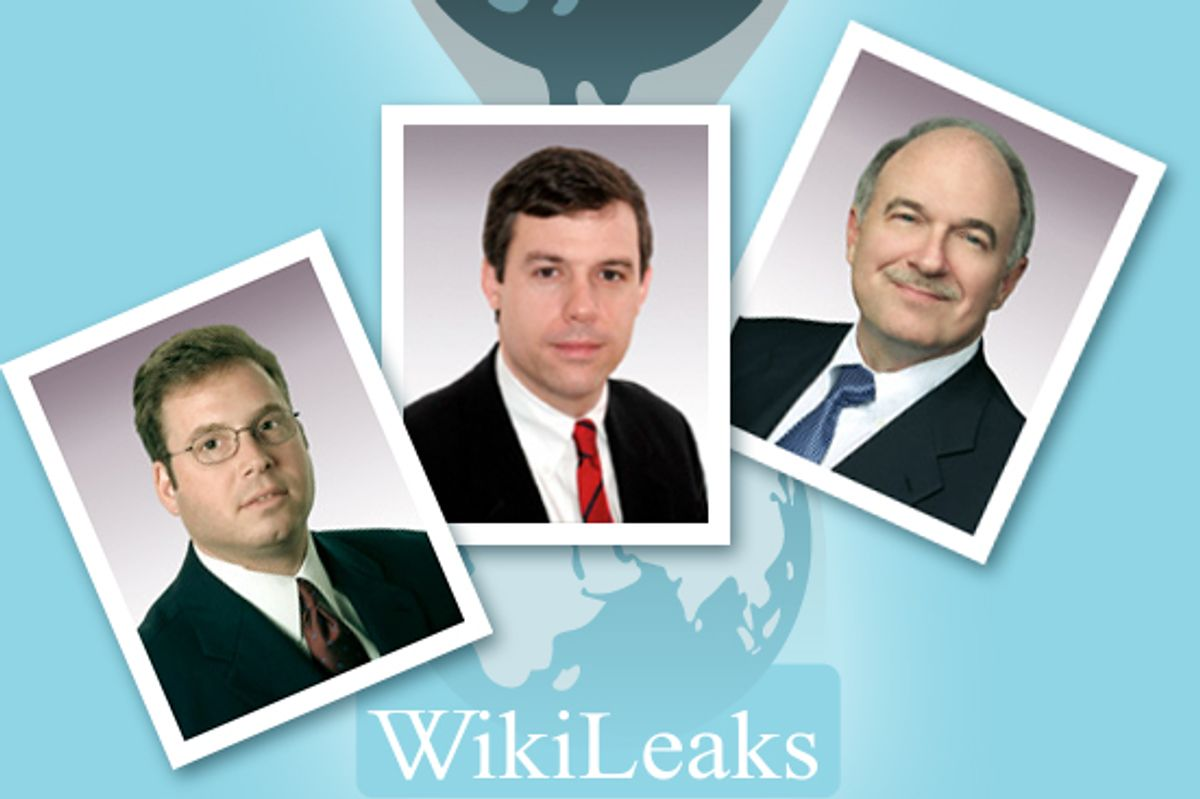 L-R: Robert T. Quackenboss, John W. Woods, Richard L. Wyatt Jr.