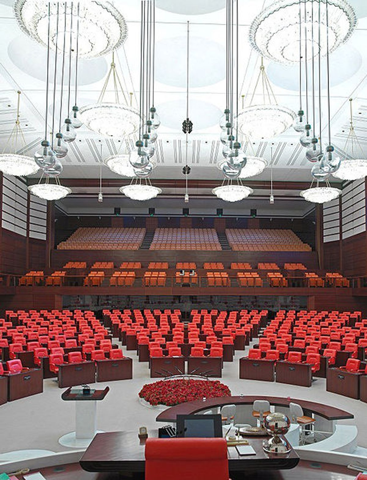 Inside of the Turkish Parliament in capital city Ankara