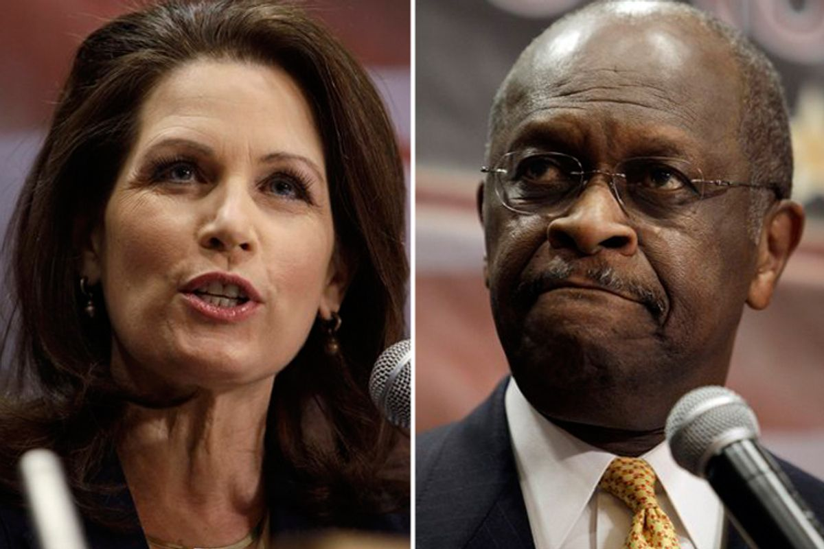 Michele Bachmann and Herman Cain