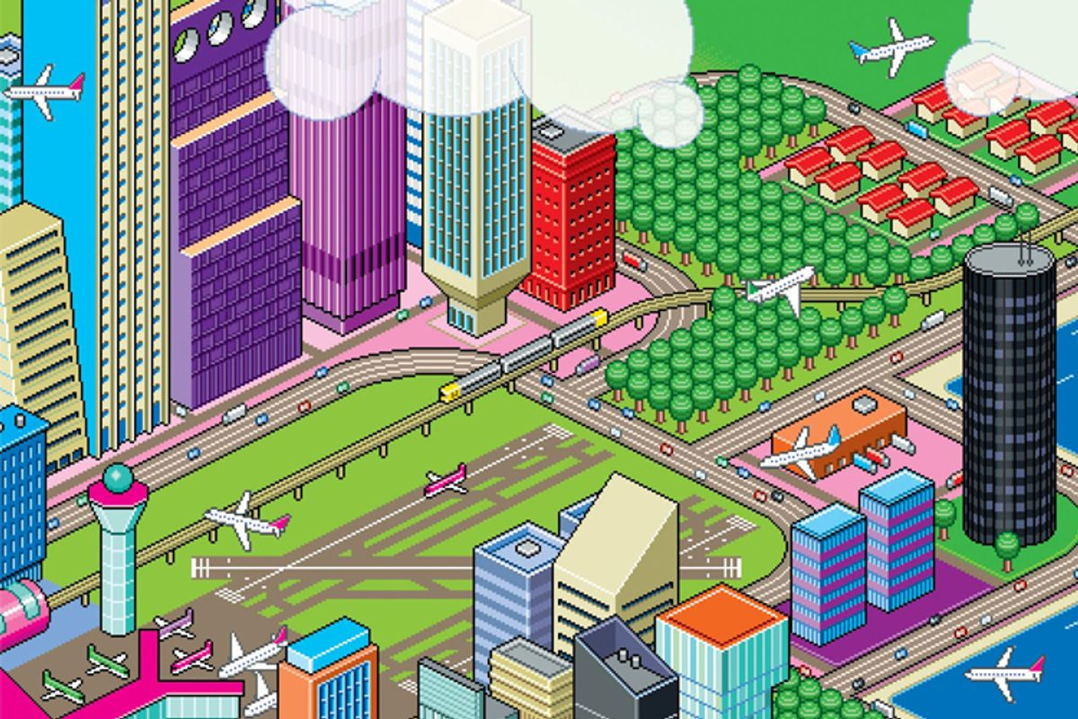 """A detail from the cover of """"Aerotropolis"""""""