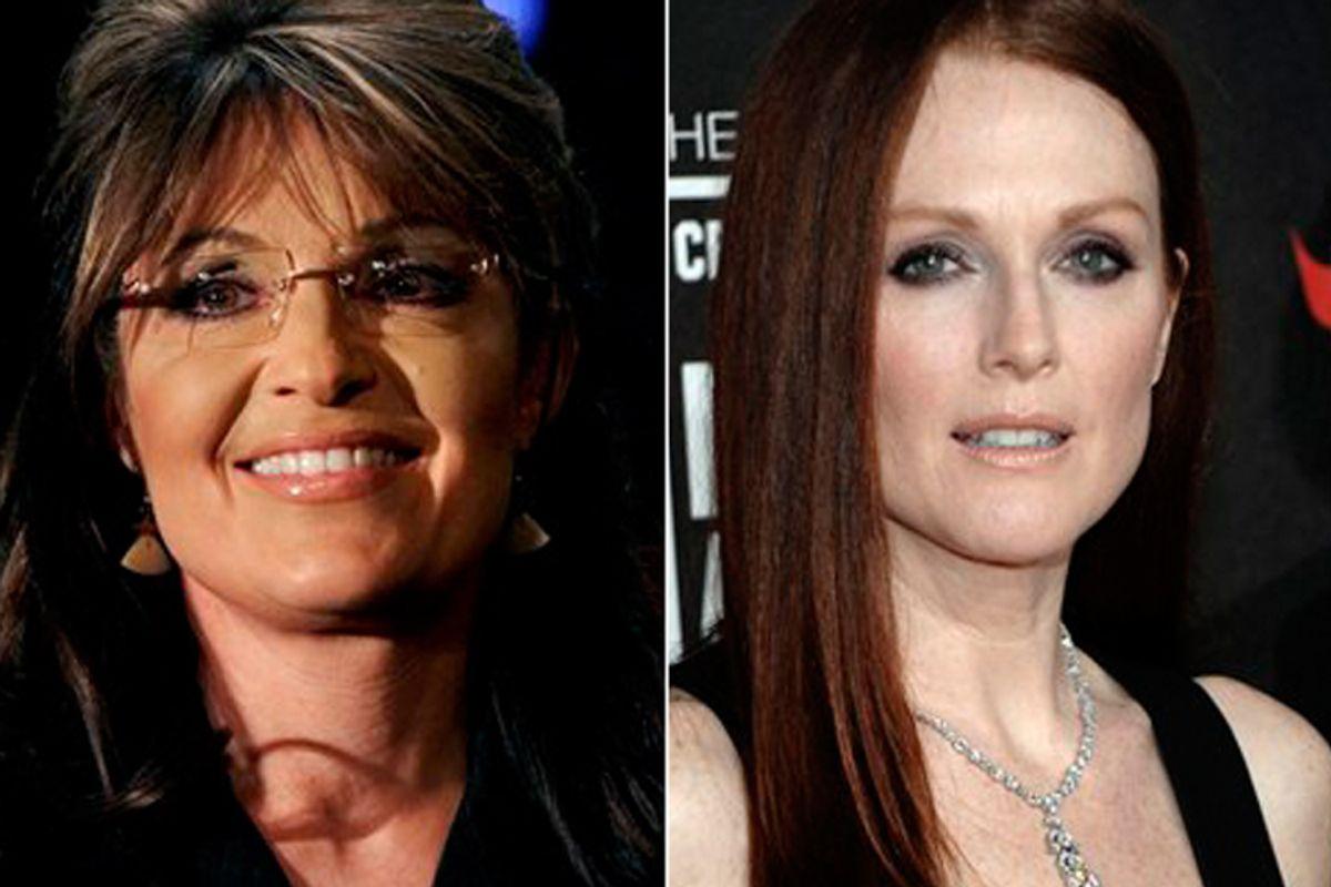 Sarah Palin and Julianne Moore