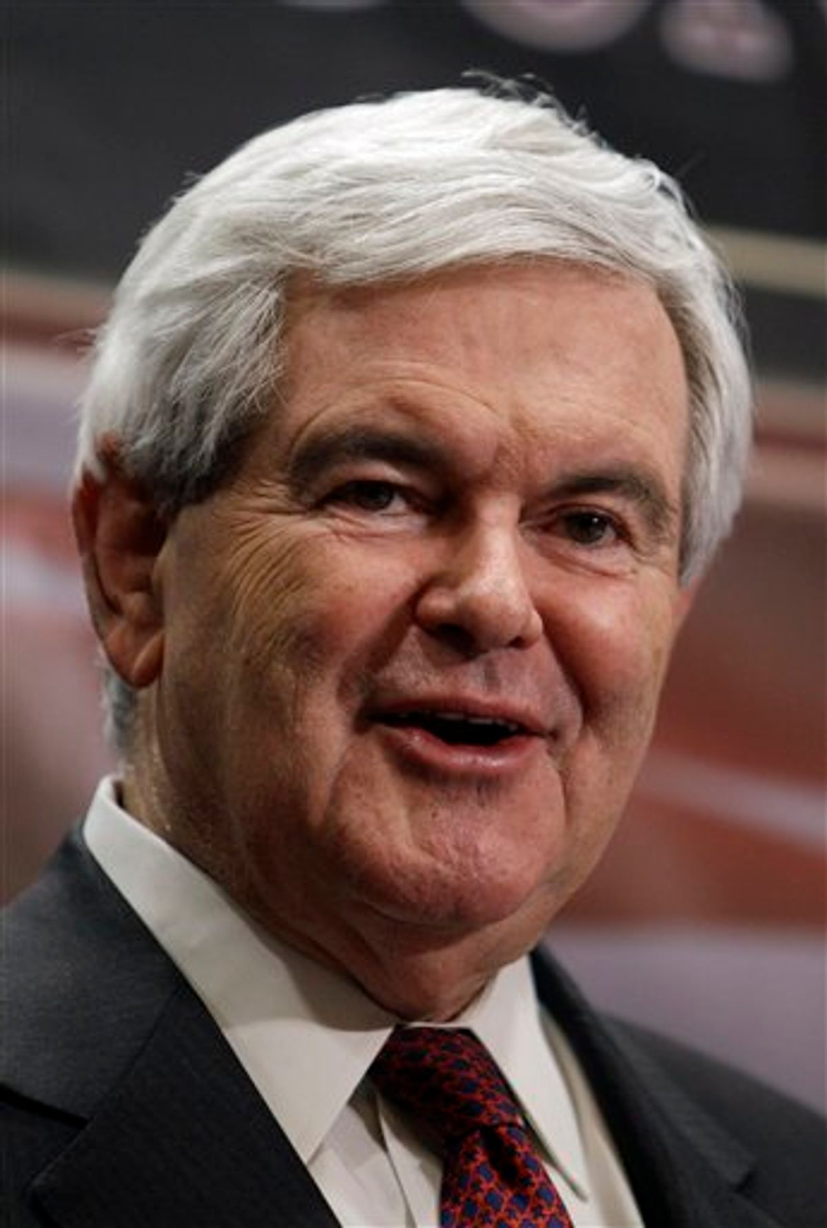 Former House Speaker Newt Gingrich speaks during the Conservative Principles Conference Saturday, March 26, 2011, in Des Moines, Iowa. (AP Photo/Charlie Neibergall) (AP)