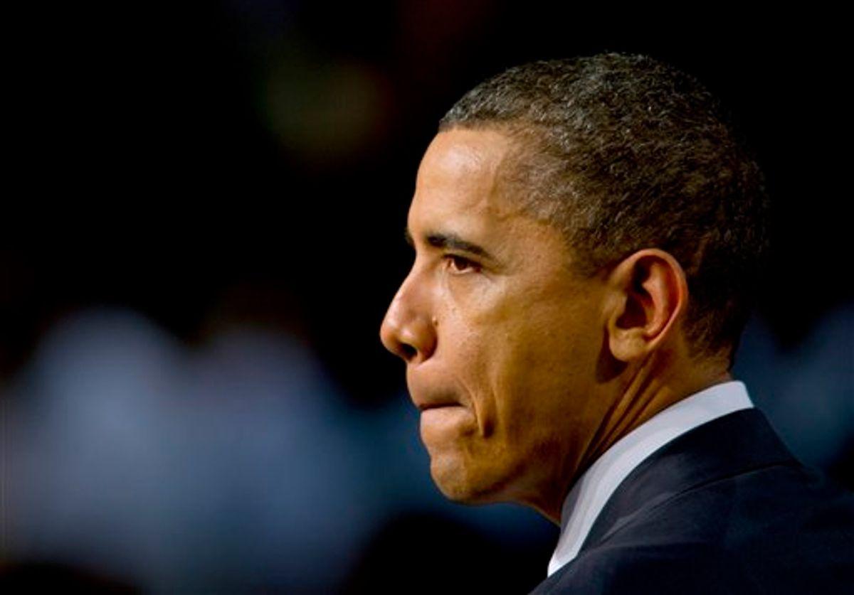 President Barack Obama speaks at Miami Central Senior High School in Miami, Friday, March. 4, 2011. (AP Photo/Steve Mitchell) (AP)