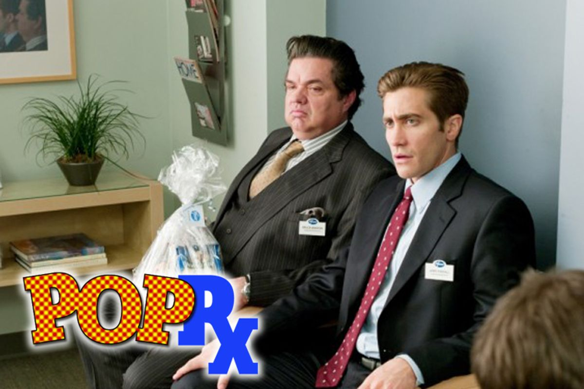 """Oliver Platt and Jake Gyllenhaal as pharmaceutical reps in """"Love and Other Drugs"""""""