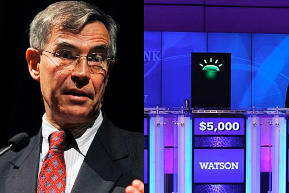 Rep. Rush Holt and Watson, the Jeopardy computer