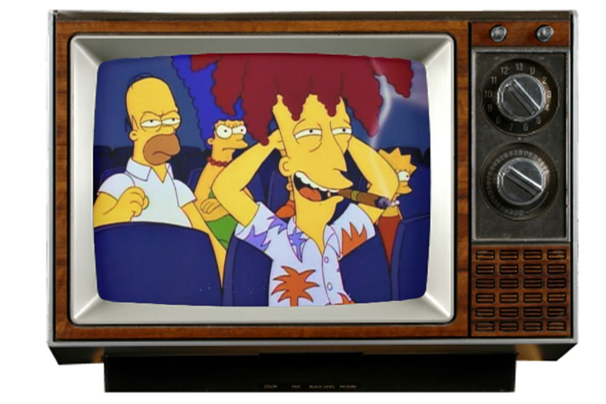"""Homer, Marge and Sideshow Bob in """"The Simpsons."""""""